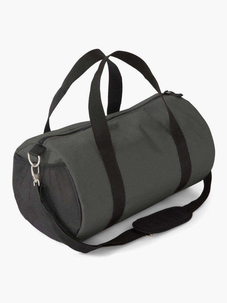 Alternate view of PLAIN SOLID BLACK OLIVE - MANY SHADES OF BLACK AVAILABLE ON OZCUSHIONS Duffle Bag