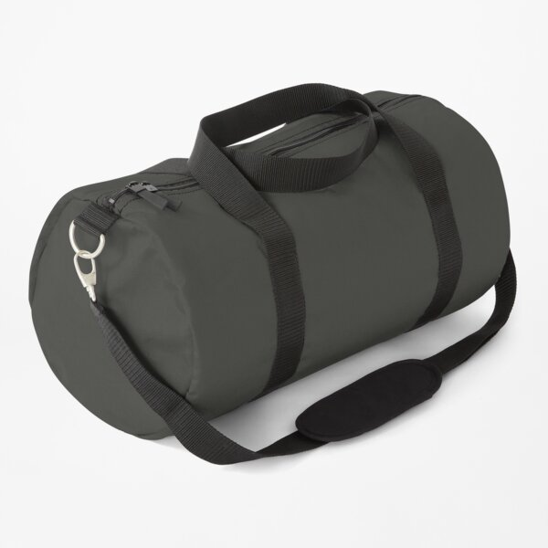 PLAIN SOLID BLACK OLIVE - MANY SHADES OF BLACK AVAILABLE ON OZCUSHIONS Duffle Bag