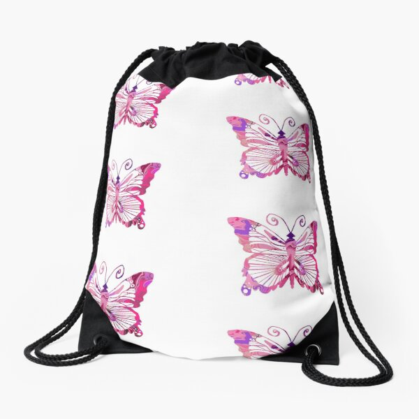 Marbled Butterfly  Drawstring Bag