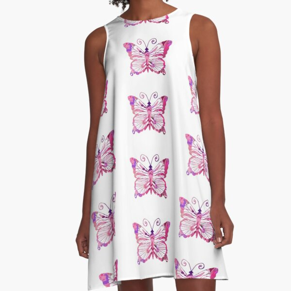 Marbled Butterfly  A-Line Dress