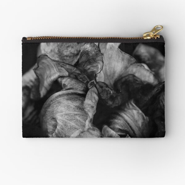 Black & White: End Of An Iris Zipper Pouch
