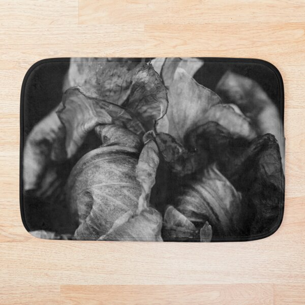 Black & White: End Of An Iris Bath Mat