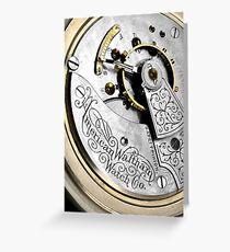 American Waltham Pocket Watch Greeting Card