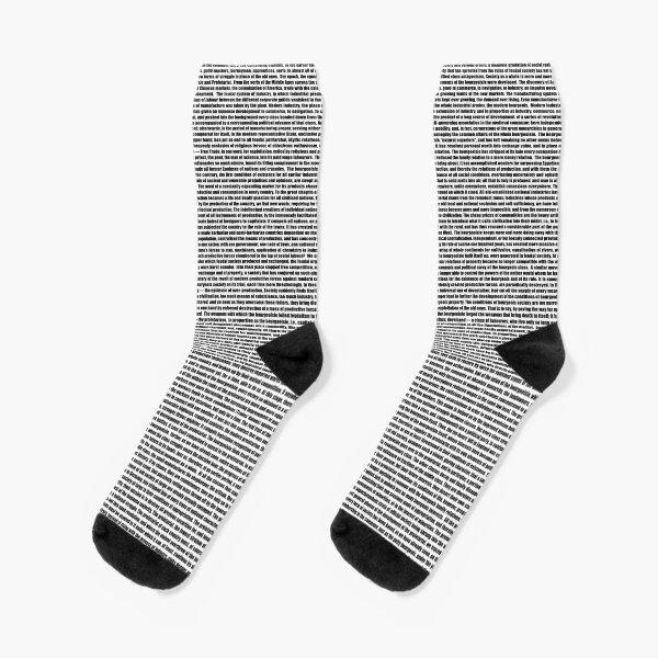 The Communist Manifesto Socks