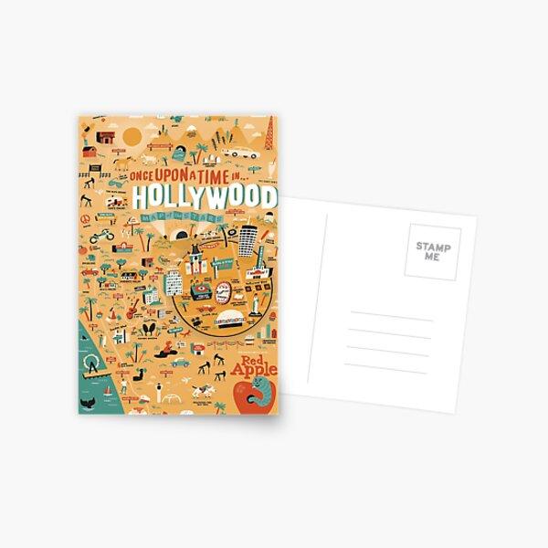 Il était une fois la carte d'Hollywood Carte postale