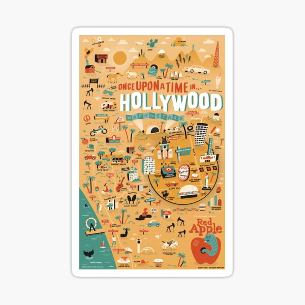 Once Upon a Time in Hollywood Map Sticker