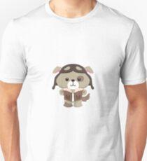 Little Pilot Pup Dog Unisex T-Shirt