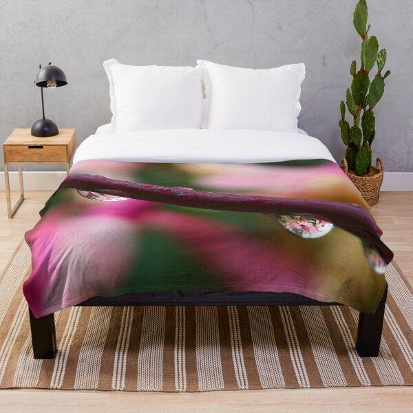 Honeysuckle Reflections Throw Blanket