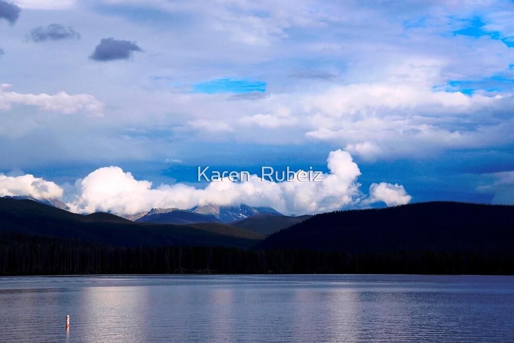 Evening at the lake by Karen  Rubeiz