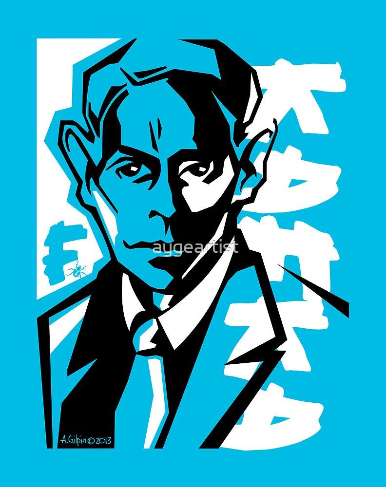 Kafka portrait in Blue & Black by aygeartist