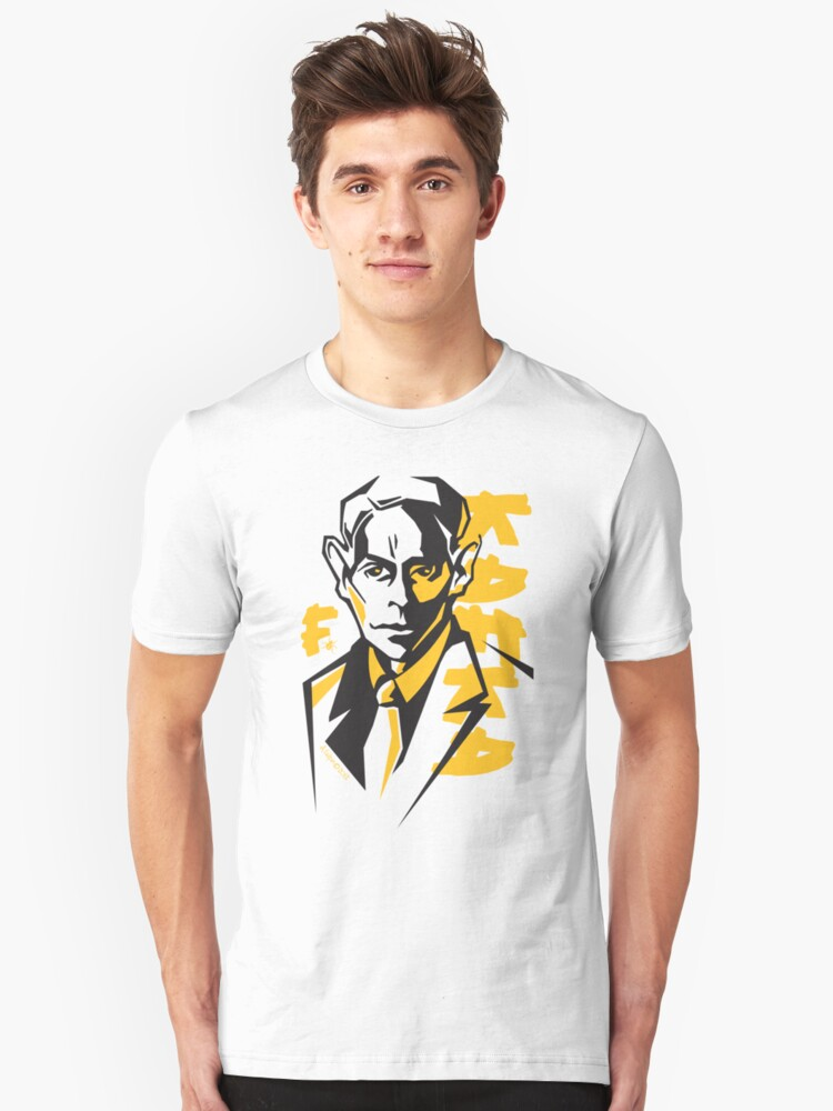 Kafka in Black & Yellow Unisex T-Shirt Front