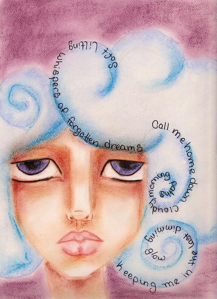 The Cloud Hair Girl by DelisaCarnegie