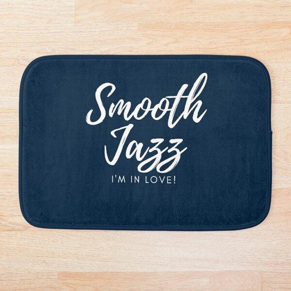 TheCoffeeCupLife: Smooth Jazz I'm in Love Blue Bath Mat