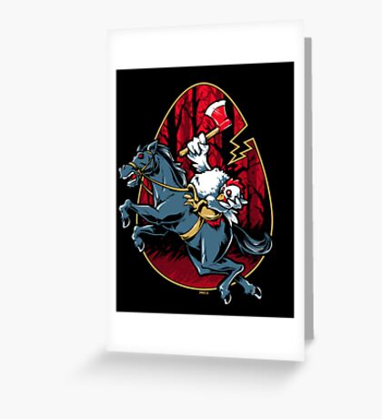The Eggless Horseman Greeting Card
