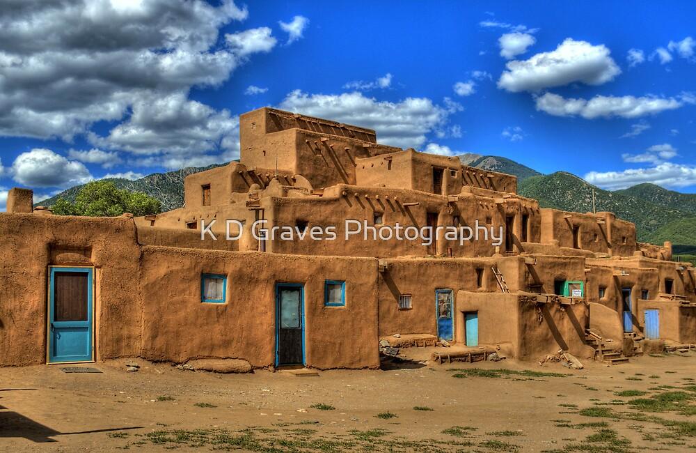 Pueblo de Taos by K D Graves Photography