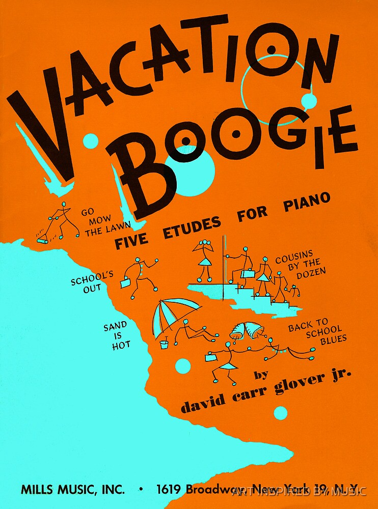 VACATION BOOGIE  (vintage illustration) by ART INSPIRED BY MUSIC