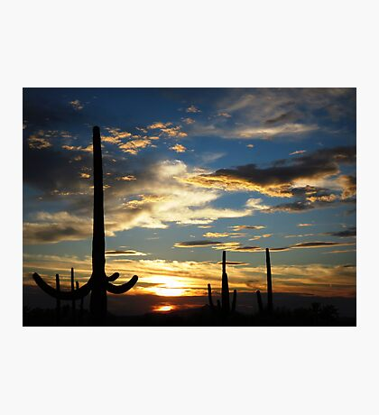 Southern Arizona Sunset Photographic Print