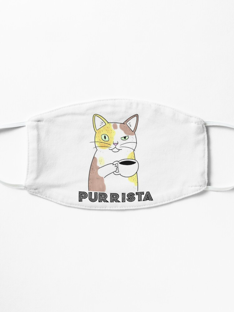 Alternate view of Coffee Cat Barista Purrista Mask