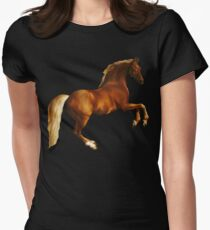 George Stubbs Whistlejacket - 1762 (for black background) Women's Fitted T-Shirt