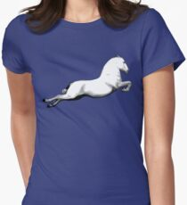 Big White Lipanzanna Stallion Women's Fitted T-Shirt