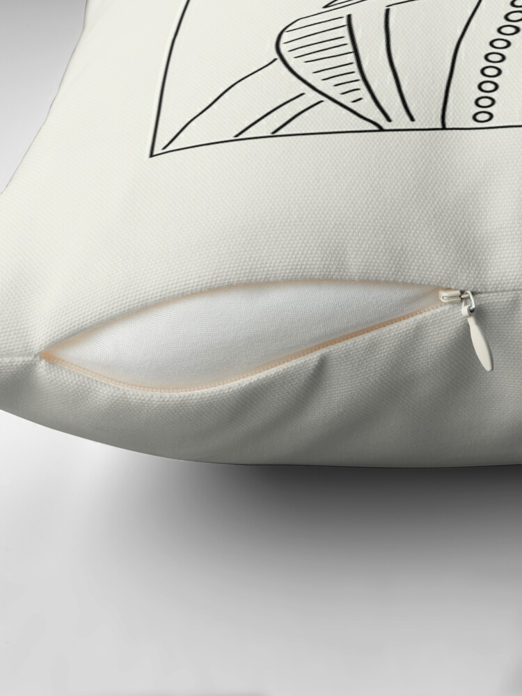 Alternate view of Shakespeare Outline Throw Pillow