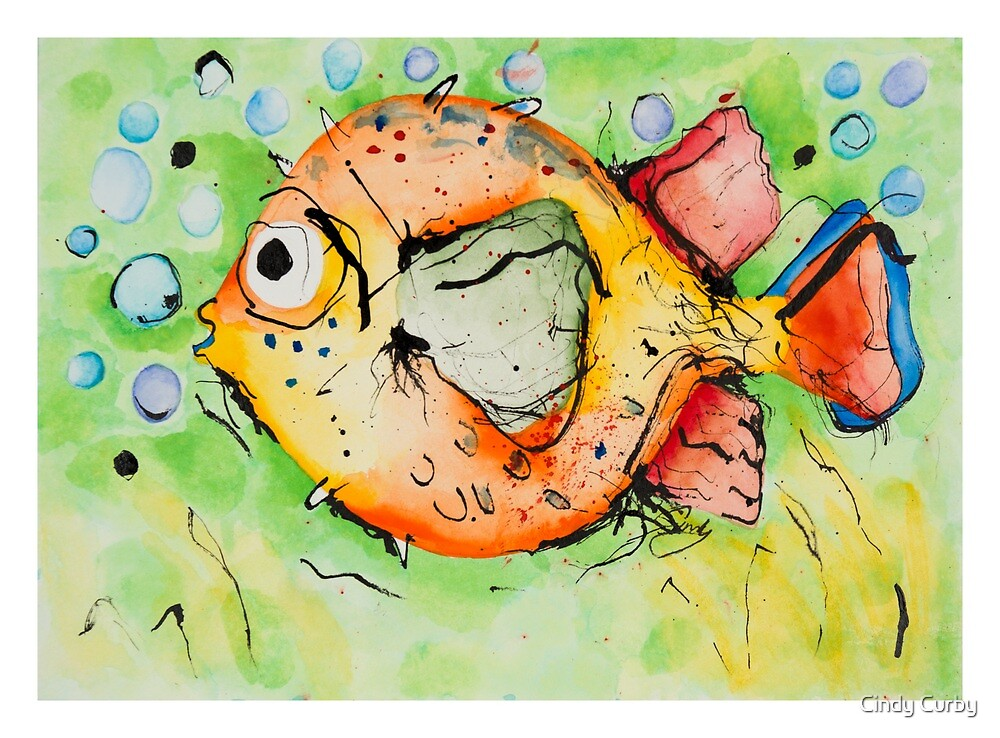 Mr Pufferfish by Cindy Curby