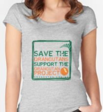 Save the Orangutans Women's Fitted Scoop T-Shirt
