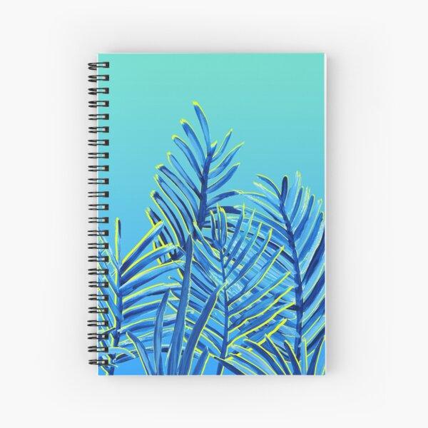 Teal Palms aqua Spiral Notebook