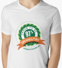 Proud to be 97% Orangutan Men's V-Neck T-Shirt