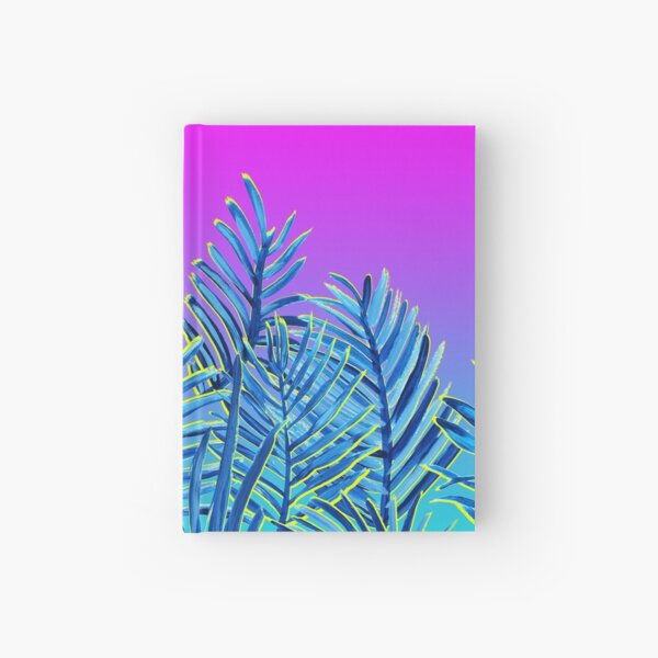 Teal Palms surf vibe Hardcover Journal