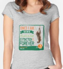 Once I'm Gone (Extinction is forever) Women's Fitted Scoop T-Shirt
