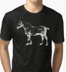 Percheron Stallion White Tri-blend T-Shirt