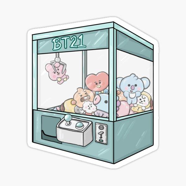 BT21 Arcade Machine Sticker