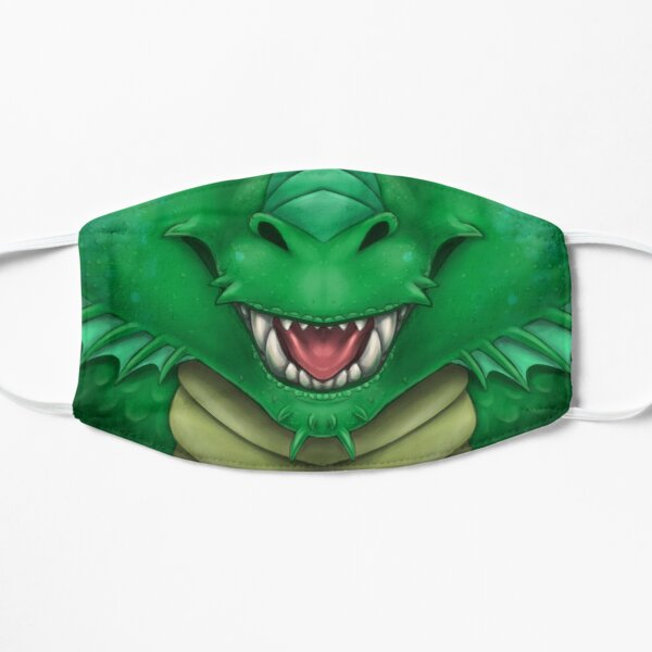 Green Dragon Face Flat Mask