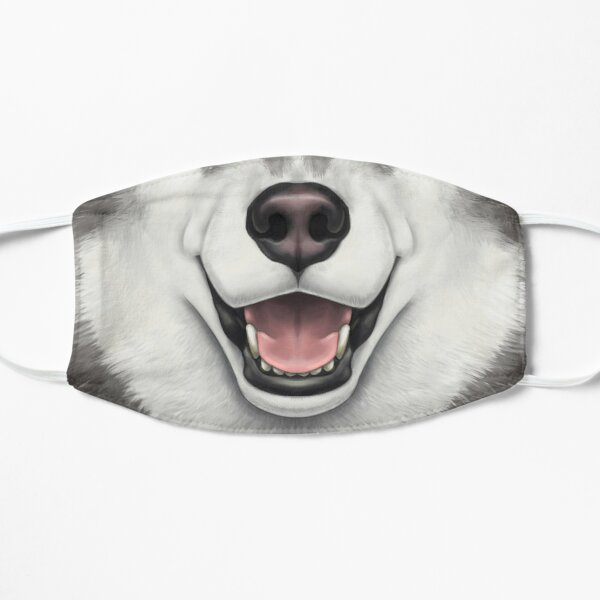 Black & White Husky Face Mask