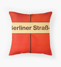 Berliner Straße Throw Pillow