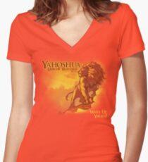 Lion of Yahudah Women's Fitted V-Neck T-Shirt
