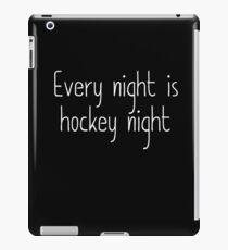 hockey nights  iPad Case/Skin