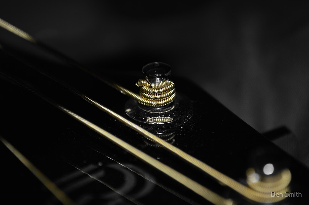 Gold String Guitar by Ben Smith