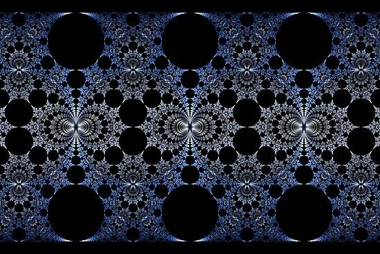 Blue Chromium Mural by Ross Hilbert