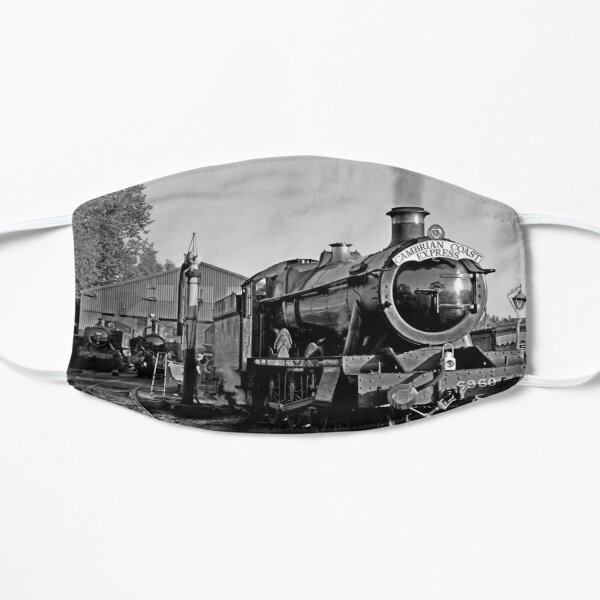 GWR steam loco 6960 Raveningham Hall at Bridgnorth loco shed Mask