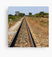Between stations... Canvas Print
