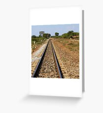 Between stations... Greeting Card