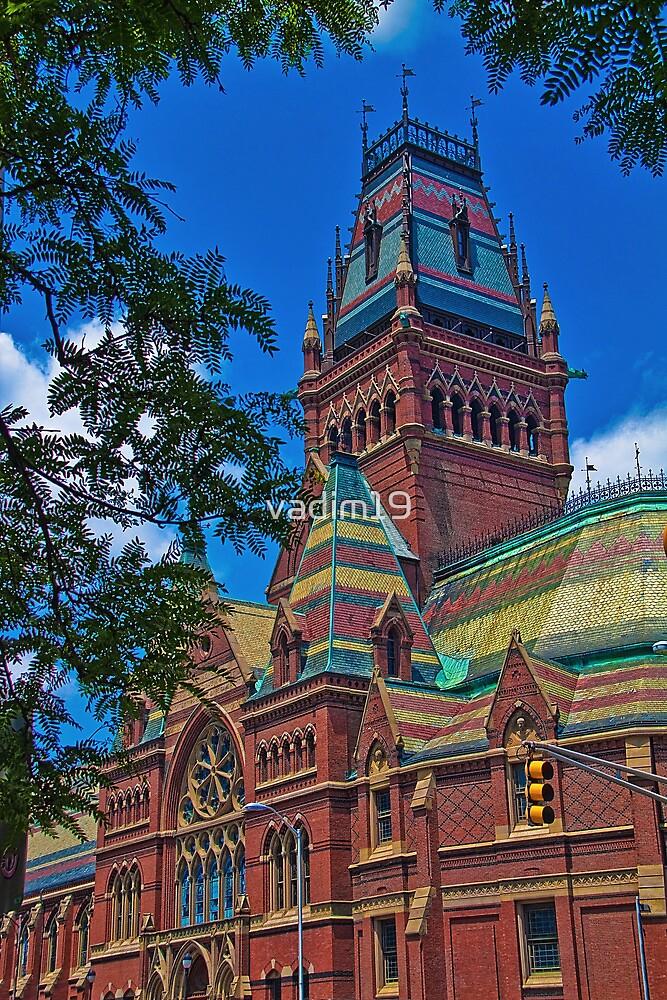 USA. Massachusetts. Cambridge. Harvard University. Memorial Hall. by vadim19