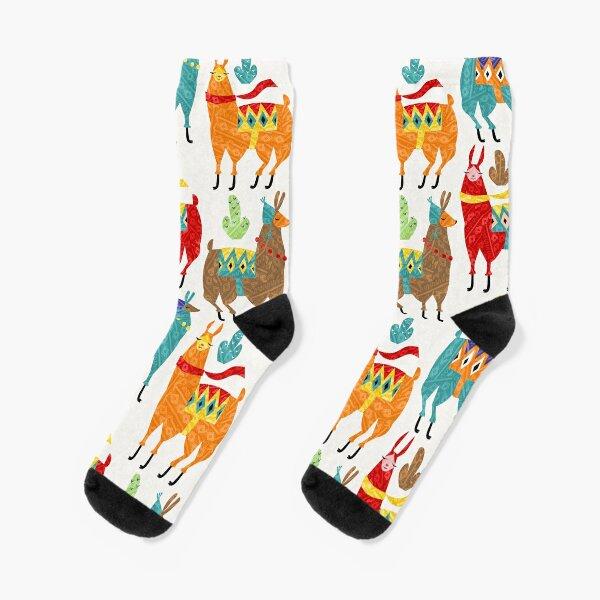 color llamas Socks