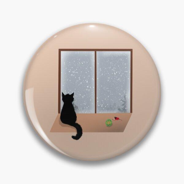 Cat looking at window Pin