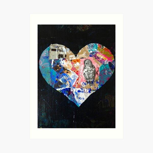 Beautiful Black Heart Art Print