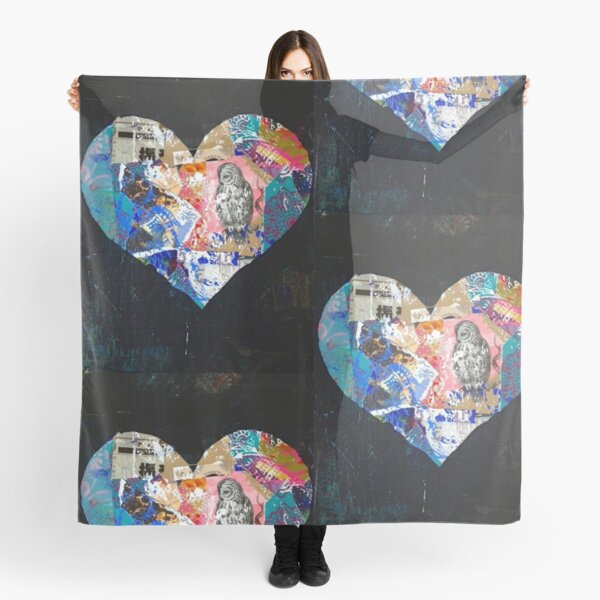 Beautiful Black Heart Scarf