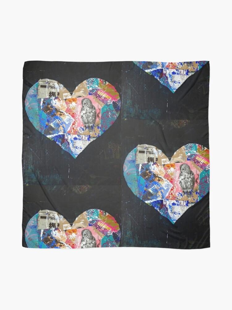 Alternate view of Beautiful Black Heart Scarf