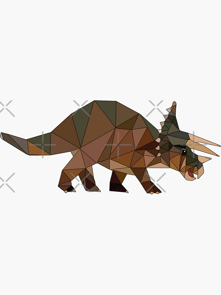 Triceratops  Dinosaur Stickers and T-Shirts by carlarmes